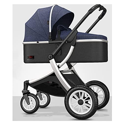 sillas de paseo El cochecito de alto paisaje, puede sentarse y acostar con el marco de aleación de aluminio de absorción de choque de dos vías es liviano y plegable. Cochecito de bebé ( Color : G )