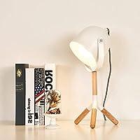 TANGIST 卓上ライト モダン、北欧、ミニマリスト、工業用LEDデスクランプ、LED常夜灯とランプボディからなる固体ラバーウッド&アイアンランプシェードからベッドルームのために、研究、装飾、ギフトハイ味 読書灯 勉強机 作業机