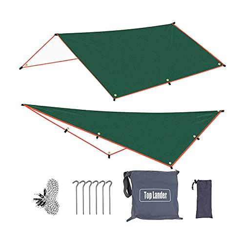 Sharplace Heavy Duty Zelt Tarp Hängematte Regen Fliegenschutz Große wasserdichte Ripstop Camping Shelter Leichte Plane mit Tasche für Outdoor Reisen Camping - 300x300cm