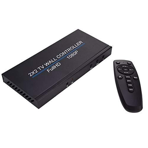 2X2 TV Wall Controller, 2x2 4K Video Wall HDMI Processor IP Network PoE HDTV 1080p Controller Splicing