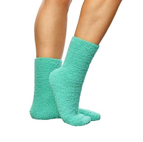 ARAD Premium Soft Warm Microfiber Fuzzy Socks, Aqua