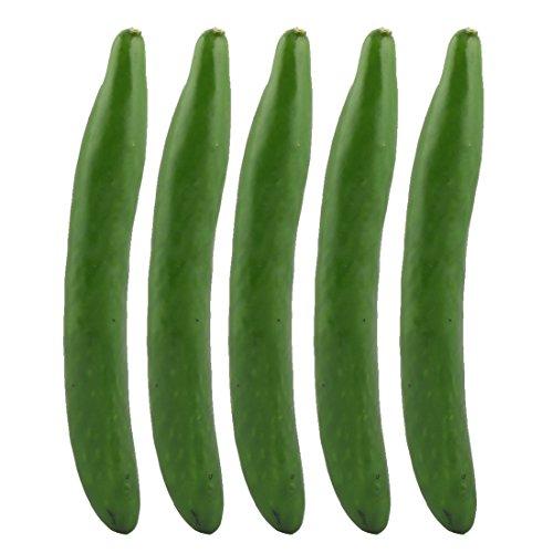 sourcing map 5Stk. Fotografie Requisit Deko Künstlich Gurke Entworfen Gemüse 24.5cm Länge DE