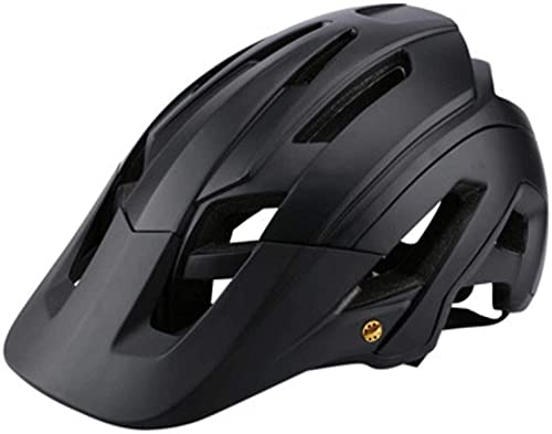 Casco Integral Adulto BMX Bike Mountain Biking - Casco Adulto Gran ventilación 53-63cm-Negro
