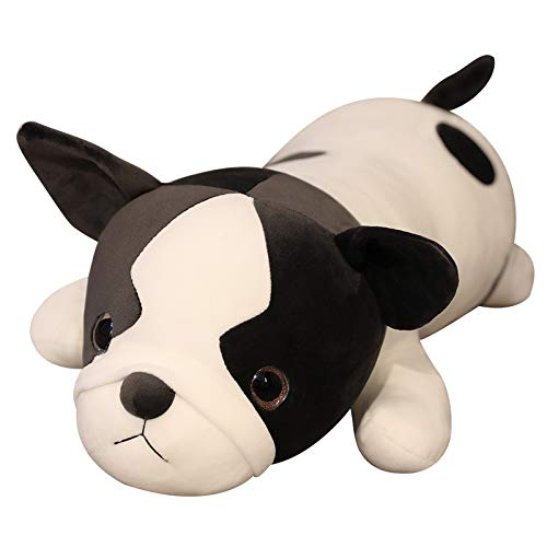 SuperB 31.5inches (80cm) Super Soft Plush Toy - Long Cotton Cute Frenchie Bull Dog Doll Plush Toy Soft Stuffed Sleeping Pillow Great Gift for Your Lovely Girlfriends
