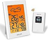 BALDR Estación meteorológica inalámbrica con sensor exterior, termómetro digital, higrómetro interior y exterior, termómetro de habitación B0134