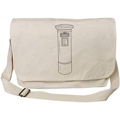 Azeeda 'Post Box' Cotton Canvas Messenger Bag (MS00030809)