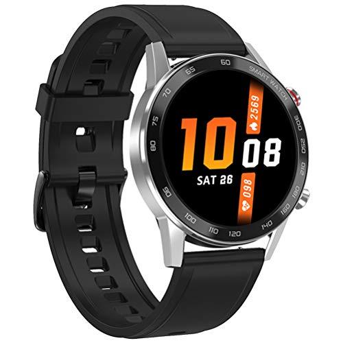 HJKPM Smartwatch, IP68 wasserdichte Bluetooth Sportherzfrequenz ECG Intelligente Uhr Mit Kalorien Temperatur GPS Bildern Funktionen Nehmen Sie Virus-Infektion Zu Verhindern, DASS,C