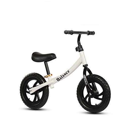 RUNMIND Scooters De Dos Ruedas Sin Pedales, Scooters De Equilibrio para Niños, Bicicletas, Scooters Libres, Bicicletas De Patinaje De Rodillos para Niños, Adecuados para Niños De 3 A 6 Años,Blanco