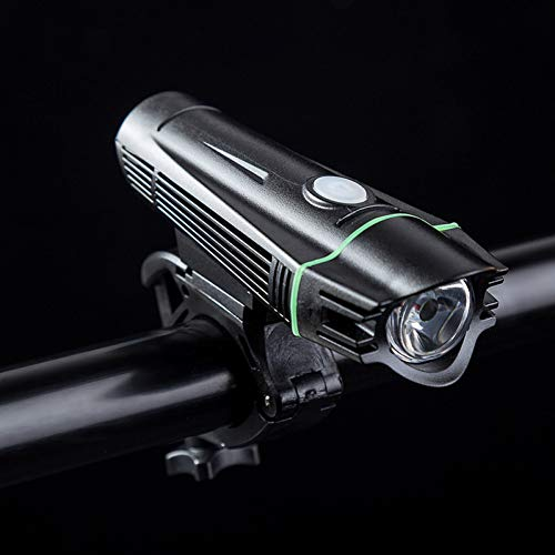 RYHTJN USB Light Front 500 Lumens Étanche Règlements Vélo Charge Phare Mountain Lights, Vert