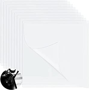 36 Pieces 6 Mil Clear Mylar Stencil Sheets,12 x 12 inches Blank Stencil Material Sheets,Square Blank Mylar Template Sheets for Stencils,Compatible Cricut & Silhouette Cutting Machines