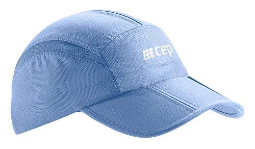 CEP – Running Cap | Atmungsaktive Faltbare Kappe mit Sonnenschutz und gebogenem Schirm in Sky in Unisex in one Size