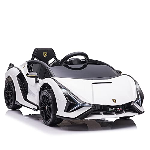 HOMCOM Voiture électrique Enfants de Sport Supercar 12 V - V. Max. 8 Km/h Effets sonores + Lumineux...