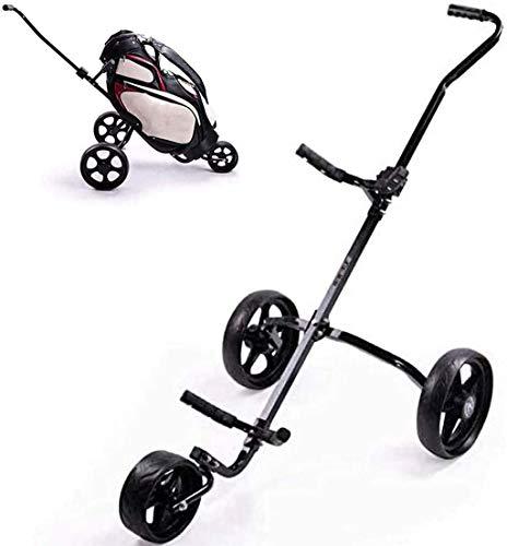 FEFCK Einfacher Golfschubwagen 2-Rad Zieh-Golfcarts Abnehmbarer Golfwagen Faltbarer Gepäckwagen Manueller Würfelschubwagen Golf Dreirad