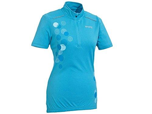 Crivit Sports Damen Fahrradshirt Trikot TOPCOOL-Funktionsfaser hellblau (XS 32/34)