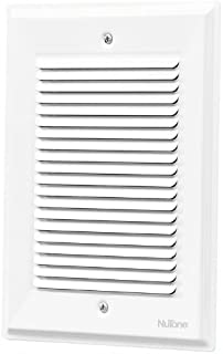 NuTone LA14WH Decorative Wired Paintable Two-Note Door Chime, White Grille