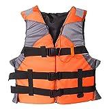 Chalecos Salvavidas de Seguridad para Adultos con Silbato, ayudas de flotabilidad para Boyas de natación, utilizados para la Pesca, Kayak, Snorkeling, Paddle Surf Orange L Code