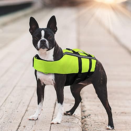 Namsan Chaleco Salvavidas para Perros Chaleco Reflectante para Mascotas con Ajustable Seguridad Natación Chaleco para Medio Perro-M