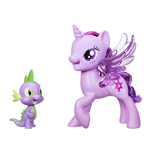 My Little Pony 5010993399055 C0718 – Princesa Twilight Sparkle & Spike El Dragón – Duo Cantante (versión de Polish), Multicolor