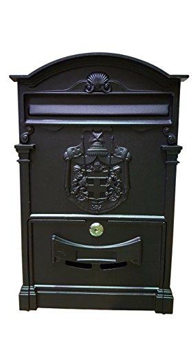 bcalpe–Cassetta postale, Alluminio), nero, 605697