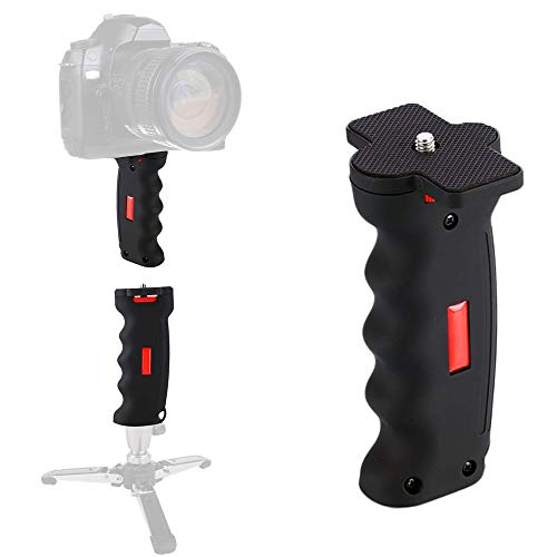 "Poyinco Wide Platform Pistol Grip Camera Handle Camera Stabilizers with 1/4"" Screw for SLR DSLR DC Canon Nikon Sony iPhone Xiaomi Smartphone"