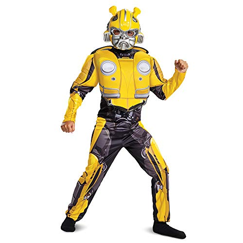 Disguise 67655K Bumblebee Classic Muscle Child Costume, Yellow, Medium/(7-8)