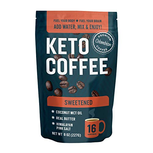360 Nutrition Keto Coffee Instant 8 oz | Sweetened | 16 Servings per bag |...