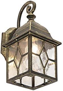 Wandleuchte Edelstahl Wandlampe Außenlampe  Landhausstil Außen-Wandleuchte weiß