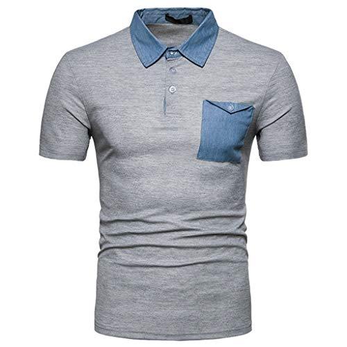 CICIYONER Poloshirts Herren polohemd Mens Casual Summer Umlegekragen Kurzarm T-Shirt Tops Bluse