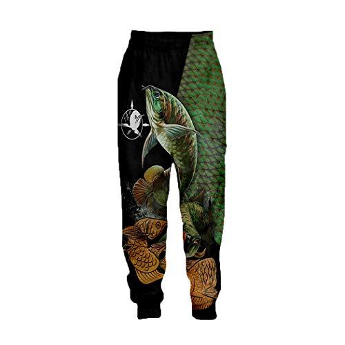 3D Walleye Fishing Printed Hose, Männer Neuheit Coole Harajuku Hosen, Full Hip Hop Joggers Sweatpants 04 XXL
