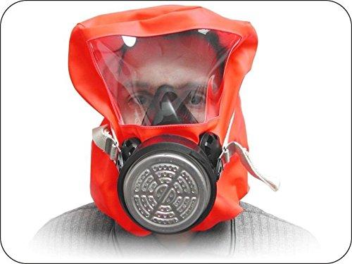 Fluchthaube ABEK1P3 Filterfluchtgerät zur Selbstrettung bei Chemieunfall oder Havarie zum Schutz vor Giftgas der Gasfilterklassen A, B, E und K sowie gegen Partikel, Rauche, Fasern und Aerosole der Partikelfilterklasse P3 gem. DIN 58647-7 (Escape Hood)