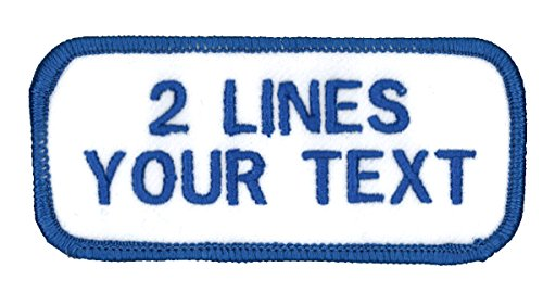 2 Line Name Patch Uniform-Work Shirt Personalized Embroidered...