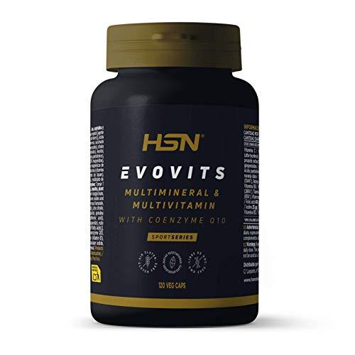 Evovits de HSN | Multivitaminas y Minerales | Complejo Multivitamínico para Mujer + Hombre + Vegetarianos y Deportistas | Vegetariano, Sin Gluten, Sin Lactosa, 120 Cápsulas Vegetales