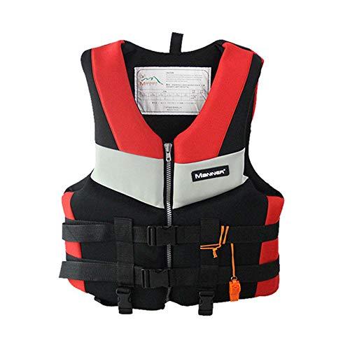 JUZIPI Chaleco salvavidas para niños, chaleco de seguridad ajustable con silbato, ayuda para nadar para kayak, paddle boarding, pesca, canoa, kayak, unisex