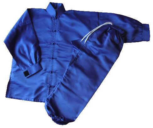S.B.J - Sportland Kung Fu/Tai Chi Anzug Satin blau, 200 cm