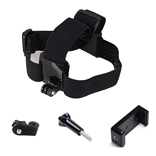 Yoogeer Multi-Function Adjustable Belt Cellphone Selfie Head Mount Strap for Sony Action Cam/Gopro Hero/Cell Phone/iPhone XR XS Max X 8 7 6 Plus