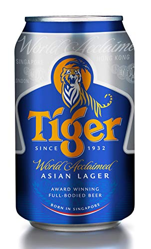 Tiger Beer Premium Asiatisches Lagerbier 24 * 0,33l DPG Dose