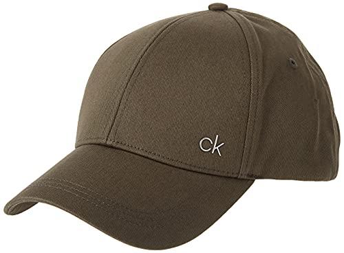 Calvin Klein Herren CK Metal Baseball Cap, Grün (Camouflage 321), One Size (Herstellergröße:OS)