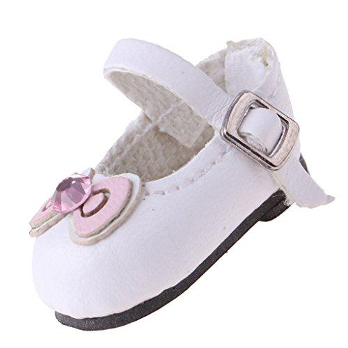 perfeclan Schöne Handgemachte Weiße Leder Mini Schuhe Für Blythe Doll 1/6