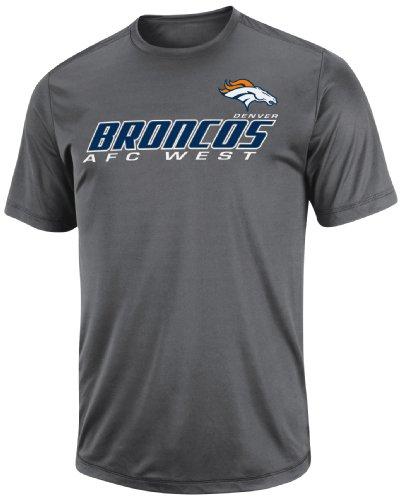 NFL Herren Denver Broncos Short Yardage IV Kurzarm-T-Shirt, Rundhalsausschnitt, Synthetik (Storm Gray, Small)