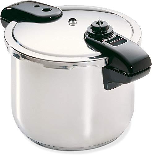 Presto 8-Quart Stainless Steel Pressure Cooker, Silver