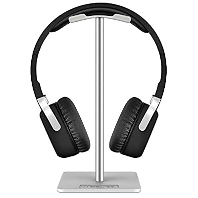 New Bee Headphone Stand Headset Stand Headphone Holder Universal Aluminum Gaming Headset Holder Earphone Display Earbuds Mount For All Headphones (White) by New bee
