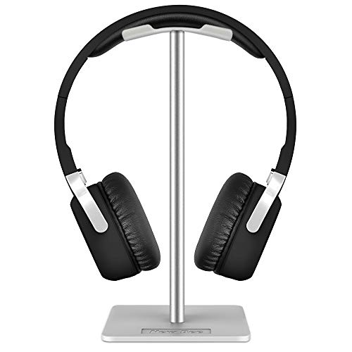 Supporto per Cuffie, New Bee Supporto per Cuffie Universale per Cuffie Over Sennheiser, Sony, Audio-Technica, Bose, Shure, AKG, Cuffie e Cuffie per Display, Alluminio + TPU + ABS, Bianco