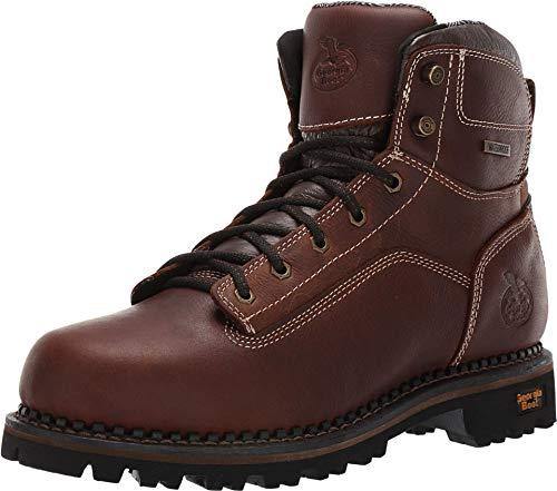Georgia Boot AMP LT Logger Low Heel Waterproof Work Boot Size 13(W) Brown