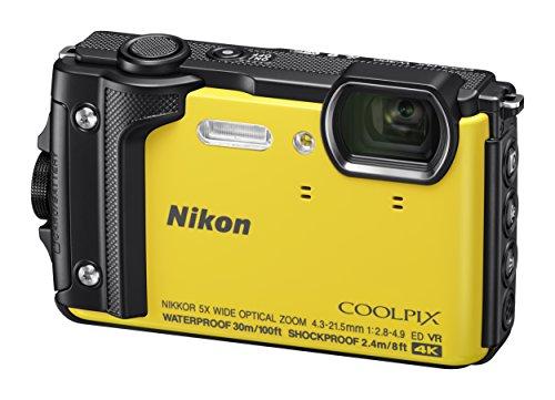 Nikon W300 Waterproof Underwater Digital Camera with TFT LCD, 3', Yellow (26525)