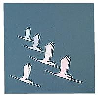 四季クリアシート (200枚入) 鶴 [ 約12 x 12cm ] 【 寿懐石 】 | 結婚式場 ホテル 宴会 旅館 和食 お祝い 業務用