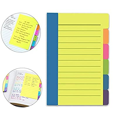 Divider Sticky Notes, Colorful Notes Assorted N...