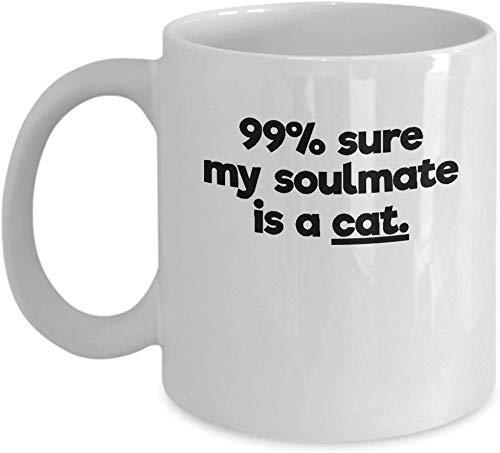 N\A Taza y ndash del Alma Gemela del Gato; Uncommom Pet Owner Taza de cerámica para café, té y ndash; Grande y Regalo -