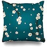 Darlene Ackerman(n) Dekokissen Abdeckung Knospe Grün Asien Weiß Pflaumenblüte Blume Digo...