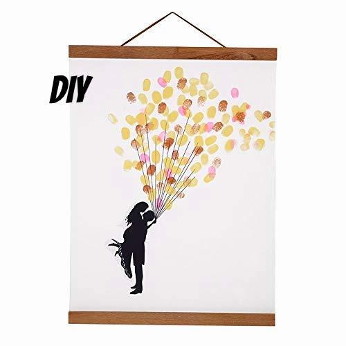 Percha de madera A3 para póster de 30 cm con marco magnético para fotos, lienzo, pintura y póster para decoración del hogar