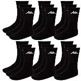 Kappa Herren Socken, 18 Paar, Freizeit -, Sport -, Wander -,Tennissocken (39-42, 005 black)